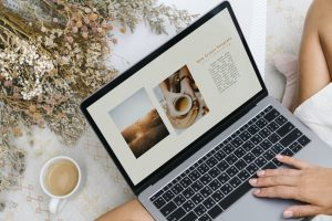 KN Writing Mackay, Laptop, Cup of Coffee, Copywriting service