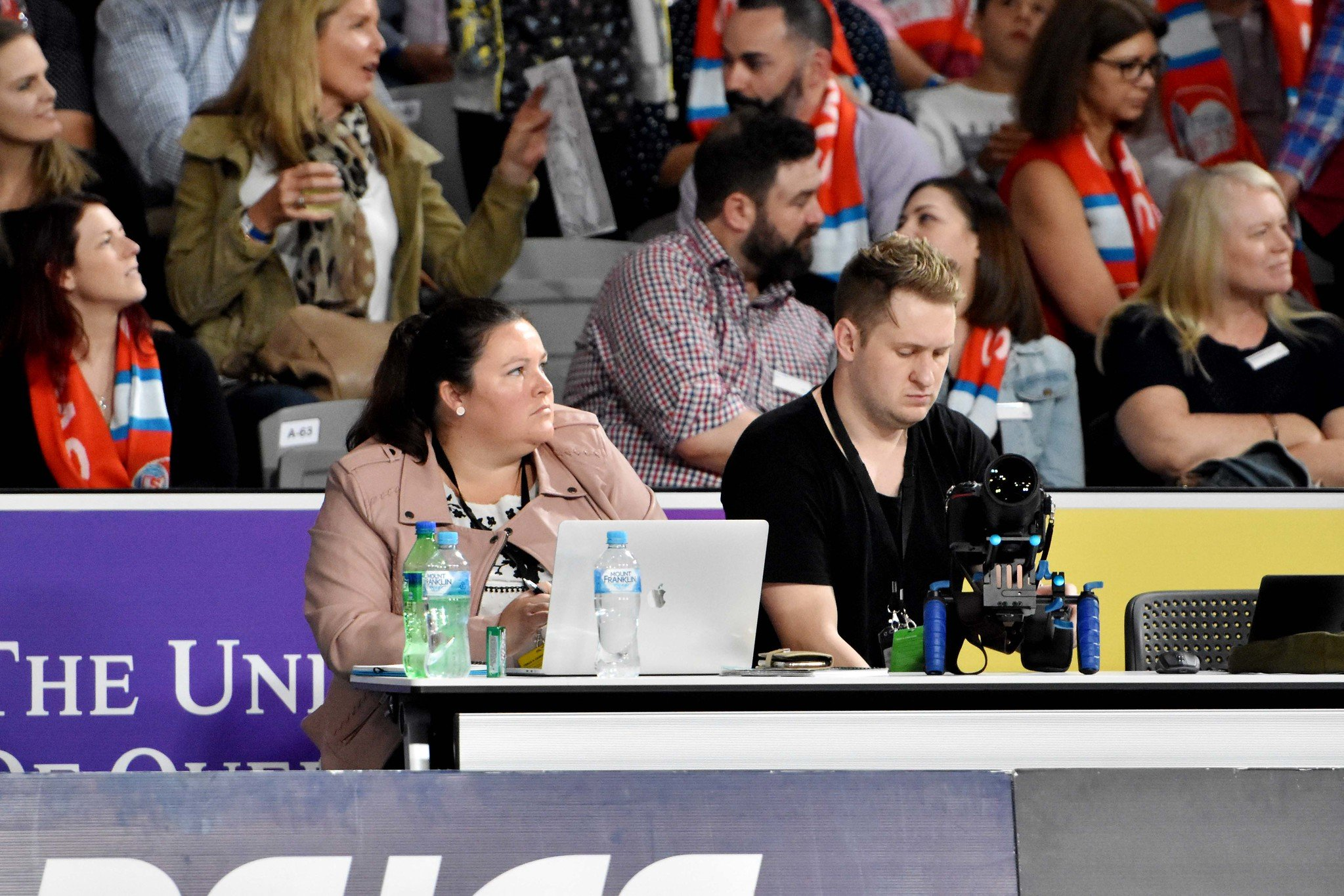 On the bench at Nissan Arena, Suncorp Super Netball, Unique focus, Katrina Nissen, Copywriting, sports journalism